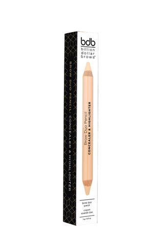 "Двусторонний карандаш для бровей ""Консилер и хайлайтер"" (Billion Dollar Brows)"